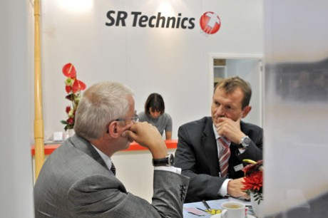 Messestand der SR Technics